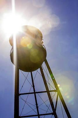 Photograph - Gruene Texas Water Tower by Art Block Collections