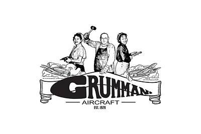 Painting - Grumman Aircraft Est 1929 by The Grumman Store
