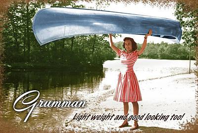 Grumman Canoe Art Print