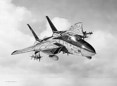 Drawing - Grumman F-14 Tomcat by Douglas Castleman