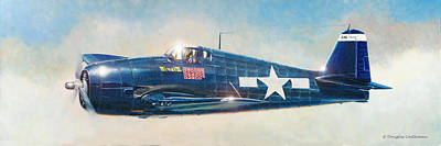 Painting - Grumman F6f-5 Hellcat by Douglas Castleman