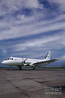 Grumman G-159 Gulfstream Patiently Waits, N719g Art Print