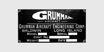 Digital Art - Grumman Product Plate by The Grumman Store