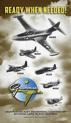 Digital Art - Grumman Ready When Needed by The Grumman Store