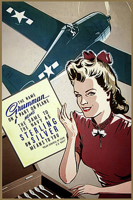 Digital Art - Grumman Sterling Poster by The Grumman Store