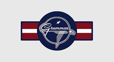 Digital Art - Grumman Stripes by The Grumman Store