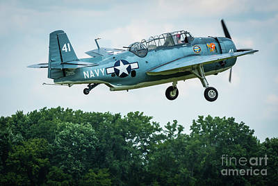 Stunt Flyer Photograph - Grumman Tbm-3u Avenger by Joann Long