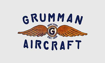 Digital Art - Grumman Wings Blue by The Grumman Store