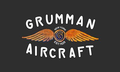 Digital Art - Grumman Wings Gold by The Grumman Store