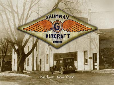 Painting - Grumman Wings by The Grumman Store