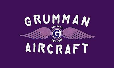 Digital Art - Grumman Wings Violet by The Grumman Store