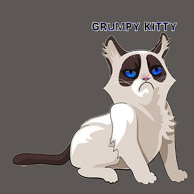 Digital Art - Grumpy Cat by Ericamaxine Price