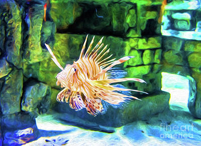 Photograph - Grumpy Old Fish - Digital Art by Kathleen K Parker
