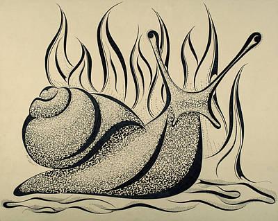 Grumpy Snail Maze Original by Mallory Westlund