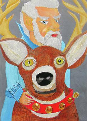 Grumpy The Reindeer Groom Original by Gordon Wendling