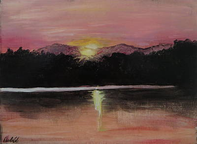 Sudbury Painting - Grundy Lake Sunset by Andrea Cole