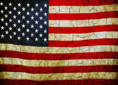 Grunge American Flag  Art Print