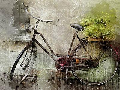 Digital Art - Grunge Bike by Yury Malkov