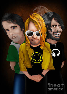 Digital Art - Grunge Caricature by Three Second