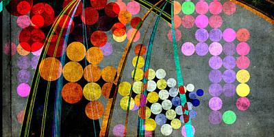 Digital Art - Grunge City Lights by Fran Riley