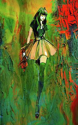 Digital Art - Grunge Doll by Greg Sharpe
