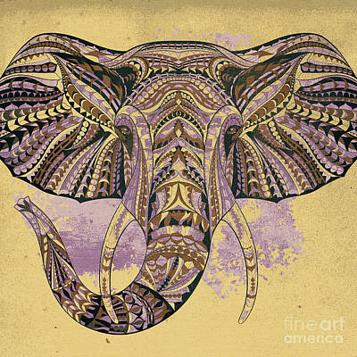 Painting - Grunge Ethnic Elephant by Aloke Creative Store