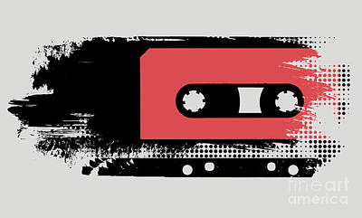 Grunge Faded Analogue Retro Audio Tape Art Print by Shawn Hempel