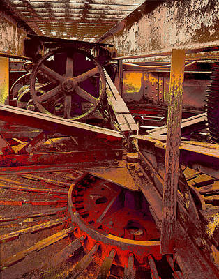 Art Print featuring the photograph Grunge Gears by Robert Kernodle