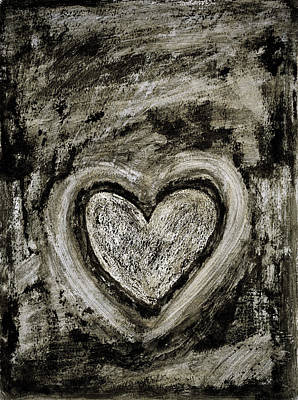 Painting - Grunge Heart by Frank Tschakert