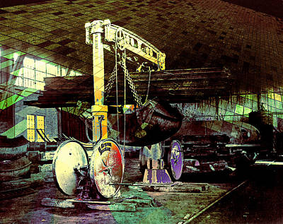 Grunge Hydraulic Lift Art Print by Robert G Kernodle