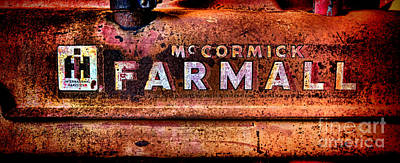 Grunge Mccormick Farmall  Art Print by Olivier Le Queinec
