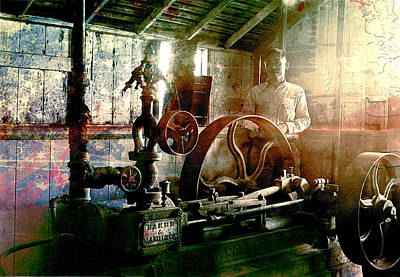Grunge Meyer Mill Art Print by Robert G Kernodle