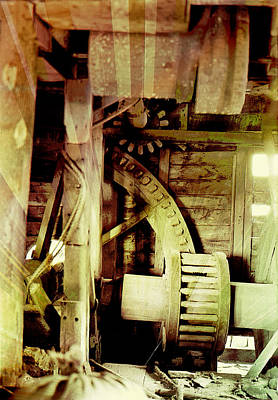 Grunge Mill Wheels Art Print by Robert G Kernodle