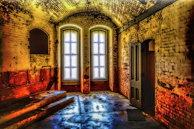 Golden Gate Photograph - Grunge Room by Garry Gay