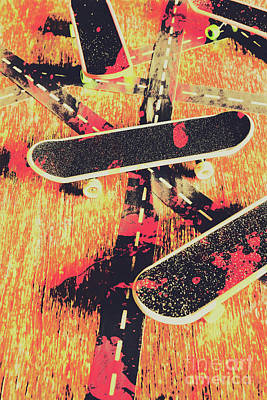Rolling Photograph - Grunge Skate Art by Jorgo Photography - Wall Art Gallery