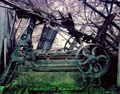 Grunge Steam Engine Art Print by Robert G Kernodle