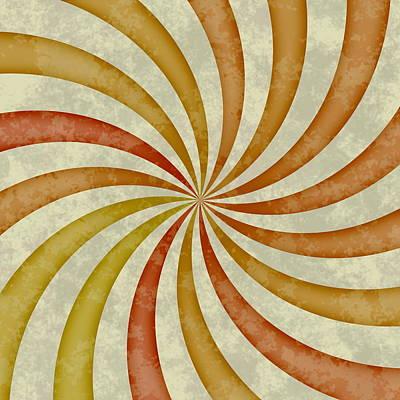 Grunge Swirl Art Print by Miroslav Nemecek