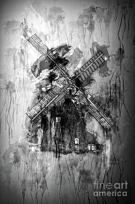 Photograph - Grunge Windmill by Jack Torcello