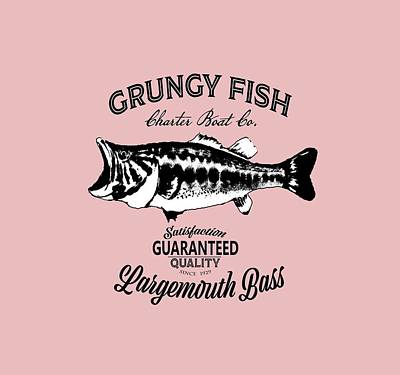 Digital Art - Grungy Fish by Peggy Novak