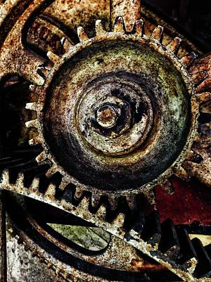 Photograph - Grungy Gears by Karen Stahlros