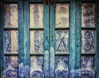 Photograph - Grungy Graffiti Autographed Panes - Nola by Kathleen K Parker