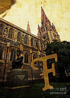 Photograph - Grungy Melbourne Australia Alphabet Series Letter F Captain Matt by Beverly Claire Kaiya