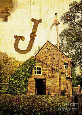 Photograph - Grungy Melbourne Australia Alphabet Series Letter J Captain Jame by Beverly Claire Kaiya