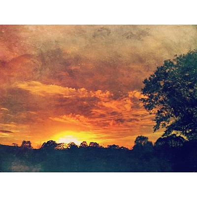 Texture Wall Art - Photograph - Grungy Sunset #textured #sunset by Joan McCool