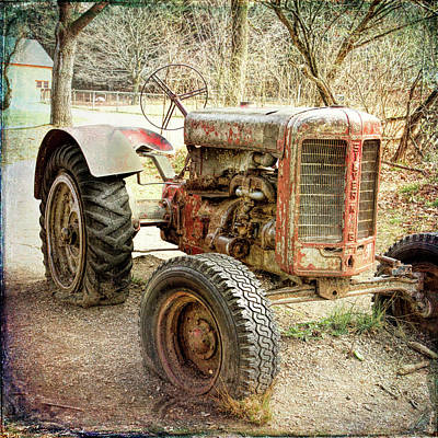 Photograph - Grungy Tractor by Natalie Rotman Cote