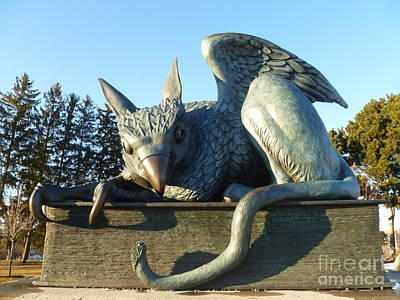 Photograph - Gryphon Statue - University Of Guelph 50th Anniversary Mascot by Lingfai Leung