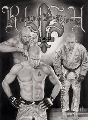 Ufc Drawing - Gsp - Rush by Jules Em