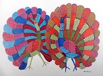 Gond Tribal Art Painting - Gst 89 by Gareeba Singh Tekam