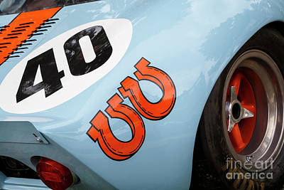 Photograph - Gt 40 Racecar by Dennis Hedberg