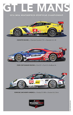 Digital Art - Gt Le Mans Poster by Alain Jamar